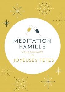 Méditation famille vous souhaite de joyeuses fêtes